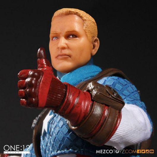 Captain America Mezco Toys 1-12 figure -unmasked head