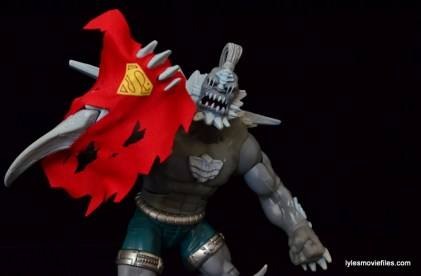 DC Signature Series Doomsday figure review - holding Superman's cape
