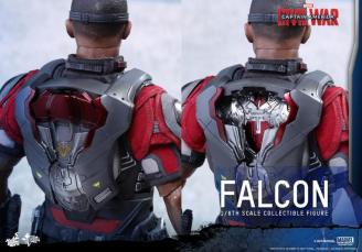 Hot Toys Captain America Civil War Falcon figure -Redwing backpack
