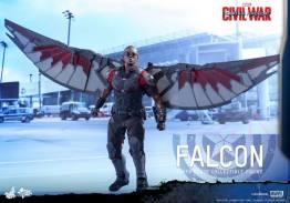 Hot Toys Captain America Civil War Falcon figure -at hanger