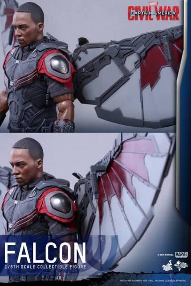 Hot Toys Captain America Civil War Falcon figure - wing articulation