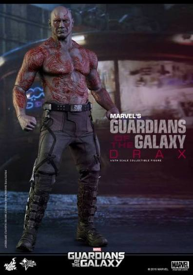 Hot Toys Guardian of the Galaxy Drax figure -standing