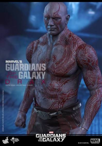 Hot Toys Guardian of the Galaxy Drax figure -tattoo detail