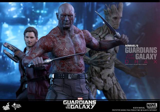 Hot Toys Guardian of the Galaxy Drax figure -with Star Lord and Groot