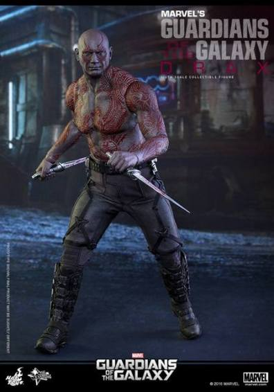Hot Toys Guardian of the Galaxy Drax figure -with blades