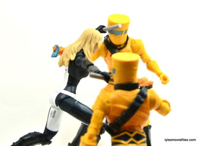 Marvel Legends Mockingbird figure review - fighting AIM soldiers