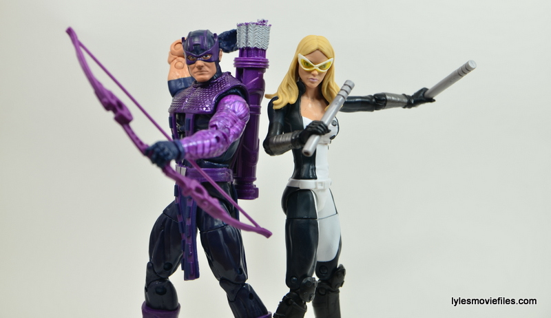 Marvel Legends Mockingbird figure review - with Hawkeye