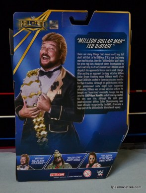 Mattel Ted DiBiase Hall of Fame figure review - rear package