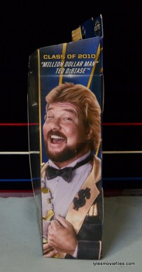 Mattel Ted DiBiase Hall of Fame figure review - side package