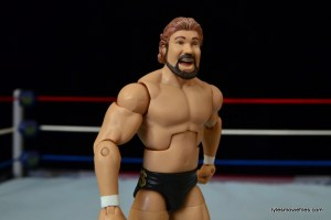 Mattel Ted DiBiase Hall of Fame figure review - side slant