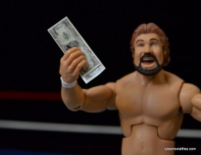 Mattel Ted DiBiase Hall of Fame figure review - with DiBiase bucks