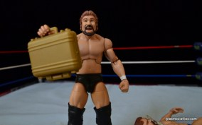 Mattel Ted DiBiase Hall of Fame figure review - with briefcase