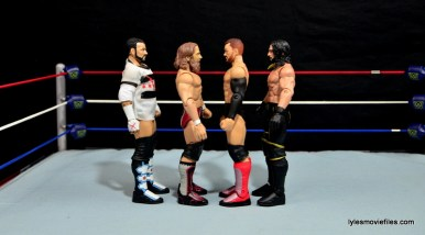 WWE Basic Finn Balor figure review -scale with CM Punk, Daniel Bryan and Seth Rollins