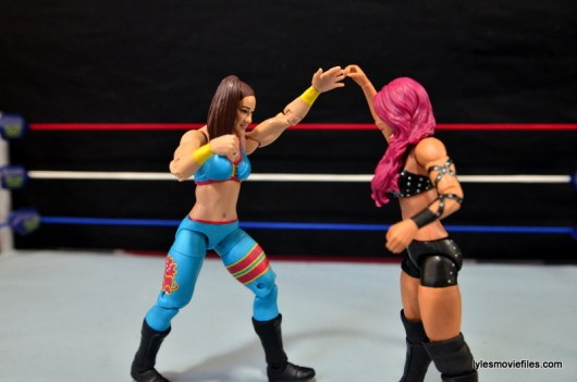 WWE Bayley figure review - locking up with Sasha Banks