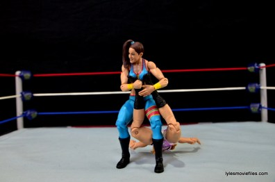 WWE Bayley figure review - sharpshooter on Emma