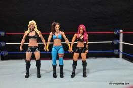 WWE Bayley figure review - with Charlotte and Sasha Banks