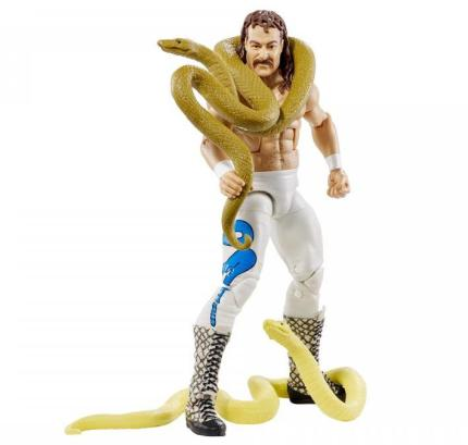 WWE Hall of Fame series 4 - Jake the Snake Roberts holding snakes