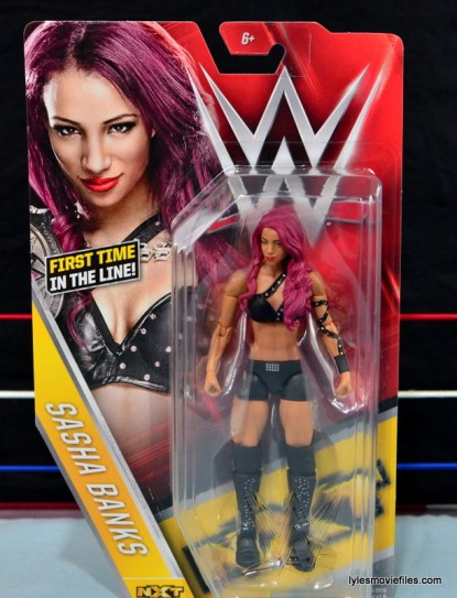 WWE Sasha Banks figure review - front package