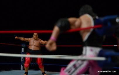 Wrestlemania 10 - Yokozuna charges corner to squash Bret Hart