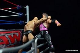 Wrestlemania 13 - Bret Hart vs Stone Cold - clothesline on rail