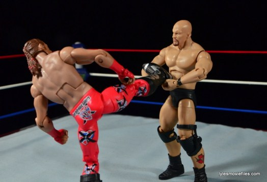 Wrestlemania 14 - Shawn Michaels vs Stone Cold - countering superkick