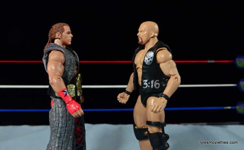 Wrestlemania 14 - Shawn Michaels vs Stone Cold - face off