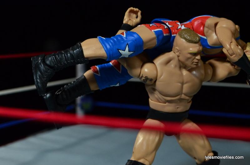 Wrestlemania 19 - Brock Lesnar vs Kurt Angle - Brock hits F5