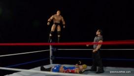 Wrestlemania 19 - Brock Lesnar vs Kurt Angle - Brock prepares for shooting star press