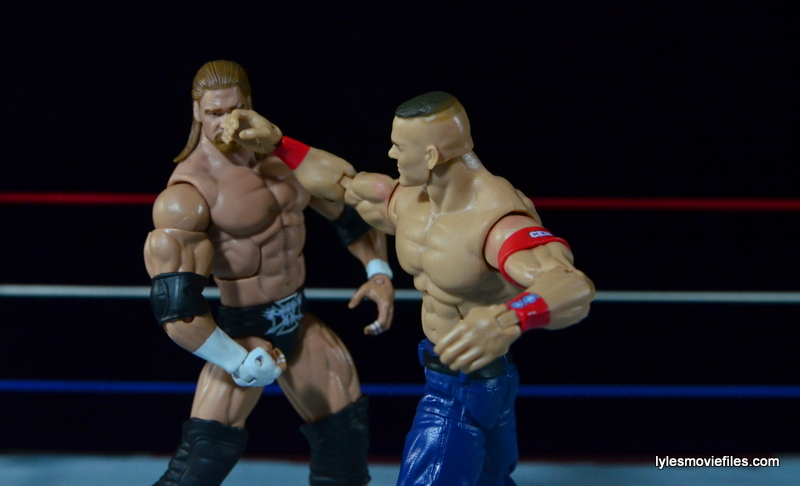 Wrestlemania 22 - Triple H vs John Cena - Cena punches Triple H