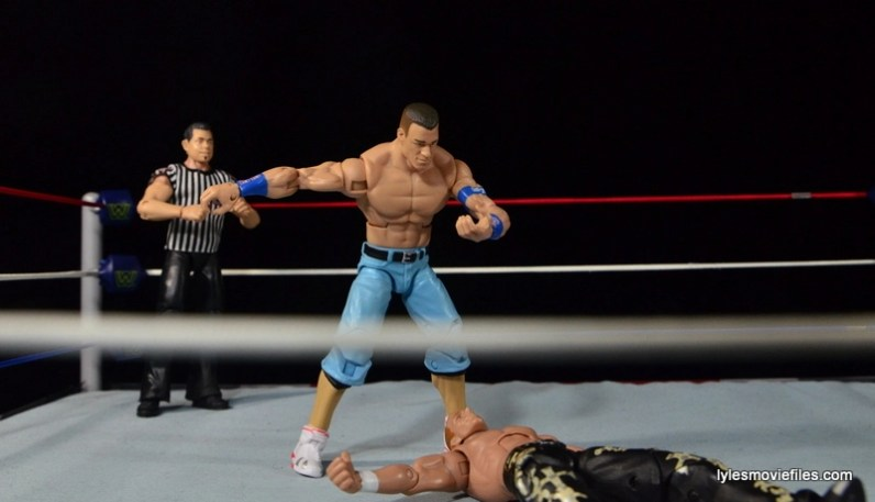 Wrestlemania 23 - John Cena vs Shawn Michaels - you can't see Cena