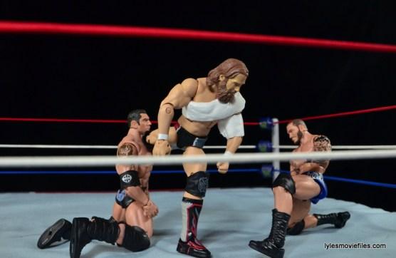 Wrestlemania 30 - Daniel Bryan vs Randy Orton vs Batista - kicks