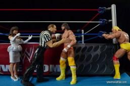Wrestlemania 5 - Hullk Hogan vs Macho Man - Randy Savage goes after Elizabeth