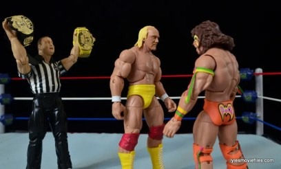 Wrestlemania 6 - Hulk Hogan vs The Ultimate Warrior -Hogan and Warrior face off