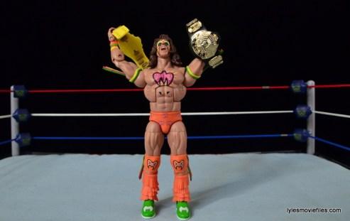 Wrestlemania 6 - Hulk Hogan vs The Ultimate Warrior - Warrior with both titles