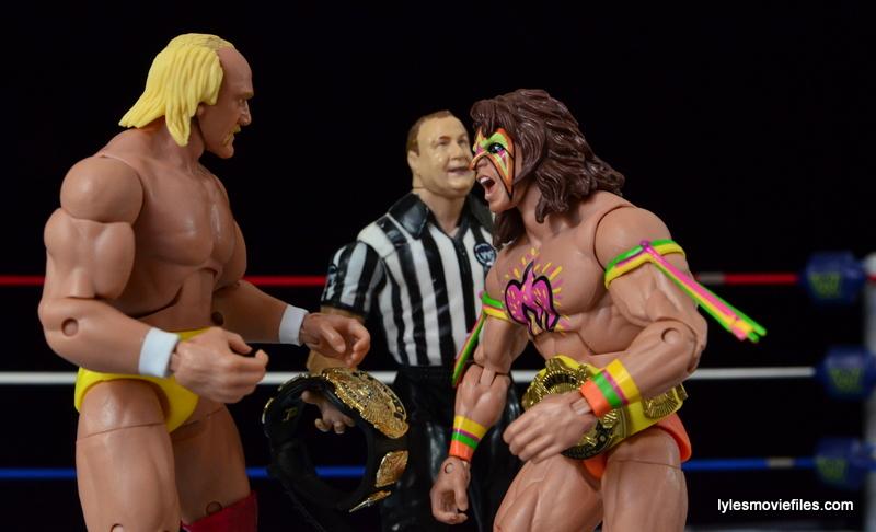 Wrestlemania 6 - Hulk Hogan vs The Ultimate Warrior - awaiting ref instructions