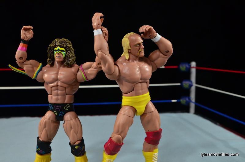 Wrestlemania 8 - Hogan vs Sid - Ultimate Warrior and Hogan posing