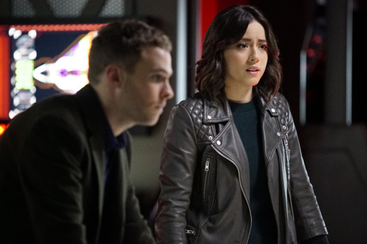 agents of shield - watchdogs review - fitz and daisy