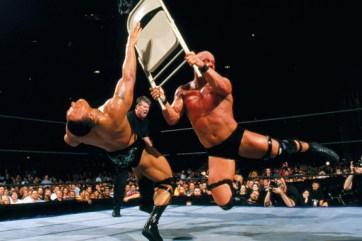 wrestlemania 17 - the rock vs stone cold