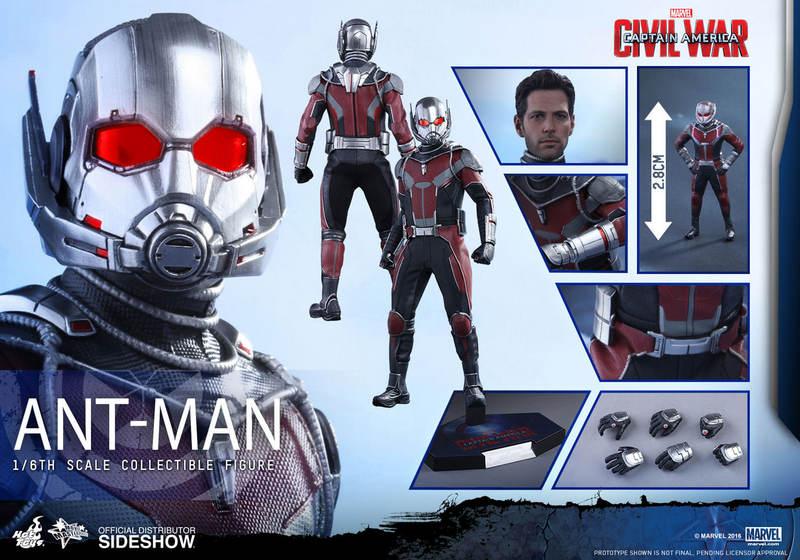 Hot Toys Civil War Ant-Man figure -collage