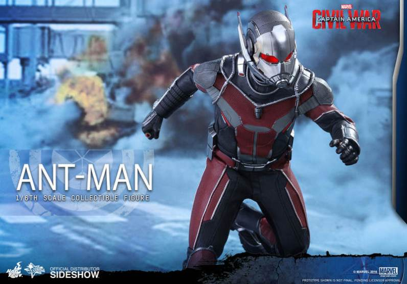 Hot Toys Civil War Ant-Man figure -head down