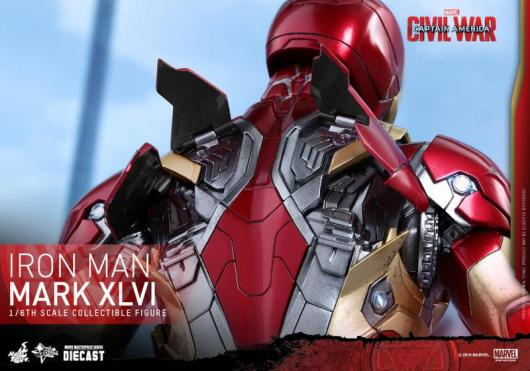 Hot Toys Civil War Iron Man -rear flaps