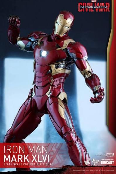 Hot Toys Civil War Iron Man -twisting