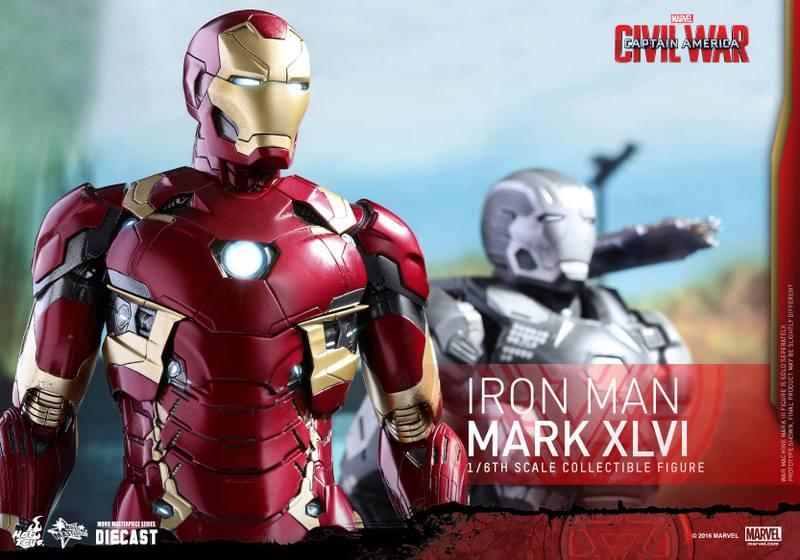 Hot Toys Civil War Iron Man -with War Machine