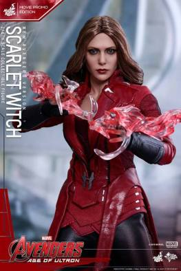 Hot Toys New Avengers Scarlet Witch - straight on powered up