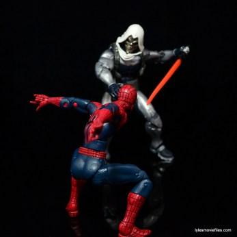 Marvel Legends Taskmaster figure -battling Spider Man