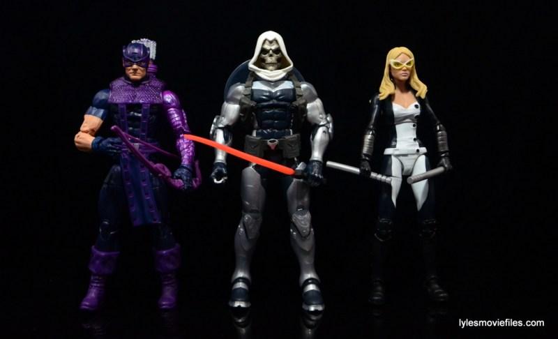 Marvel Legends Taskmaster figure -scale with Hawkeye and Mockingbird