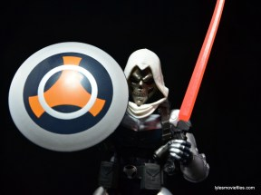 Marvel Legends Taskmaster figure -shield and sword up