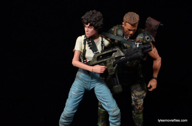 NECA Aliens Ellen Ripley figure - carrying Hicks