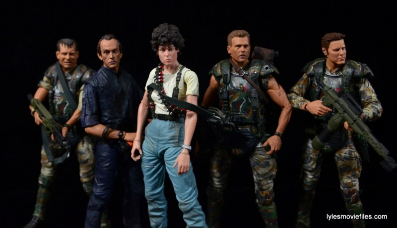 NECA Aliens Ellen Ripley figure - with Hudson, Bishop, Hicks and Windrix