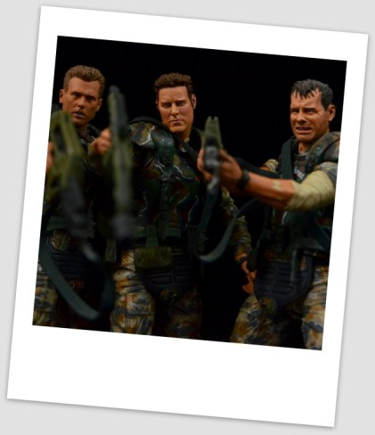 NECA Aliens Sgt Craig Windrix figure -Polaroid with Hicks and Hudson